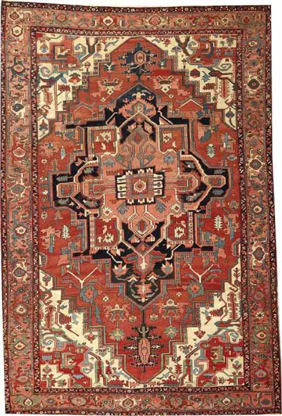 Lot 2097. A SERAPI CARPET Northwest Persia size approximately 8ft. 3in. x 12ft. 5in. US$ 9,500 - 11,000
