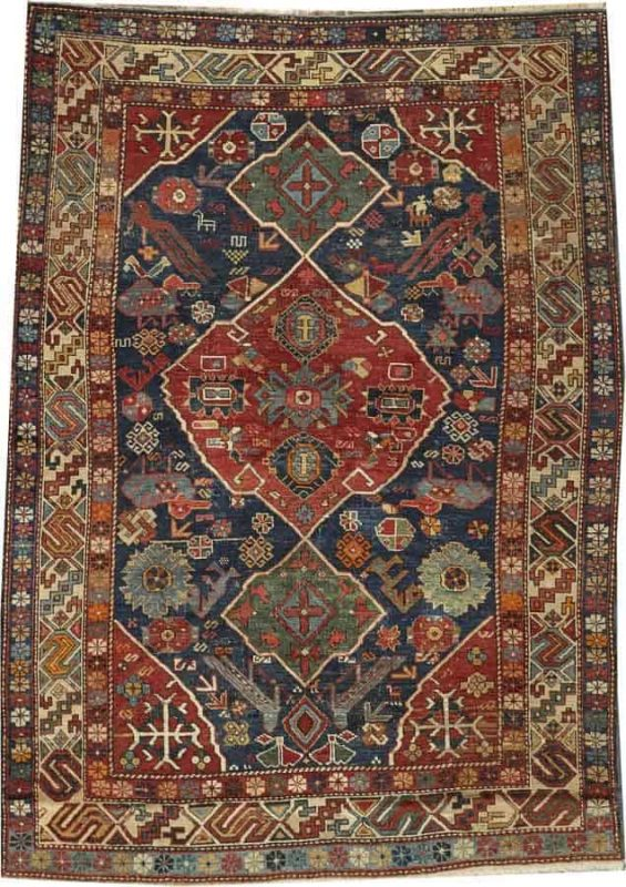 Lot 2196. A PERPEDIL RUG Caucasus size approximately 4ft. 1in. x 5ft. 9in. US$ 2,000 - 4,000
