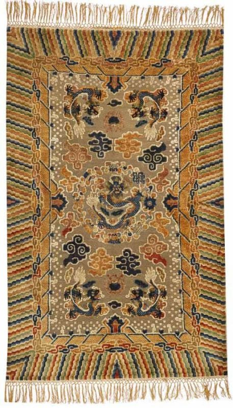 Lot 2275. A CHINESE METAL AND SILK RUG China size approximately 4ft. 10in. x 7ft. 9in. US$ 6,000 - 9,000