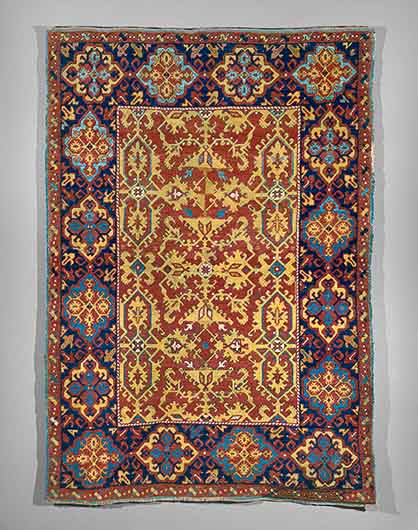 3a. Ornamental Lotto Carpet 72dpi - Islamic carpets and Dutch paintings at the MET