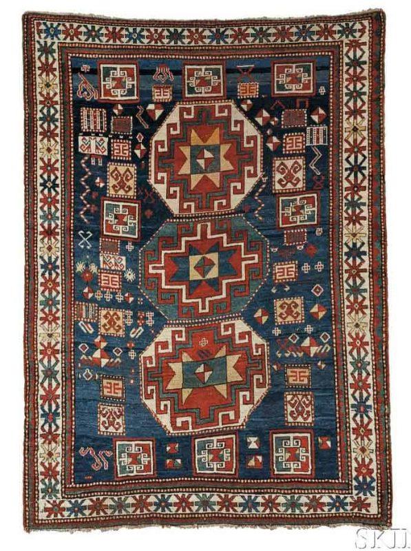 Lot 59. Kazak Rug, Southwest Caucasus, early 20th century. Estimate $2,000 - $2,500