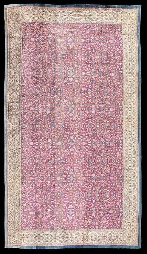 Lot123. A silk Kashgar fragmentary carpet, East Turkestan late 17th - early 18th century. Realized price £ 266,500