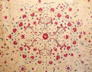 This 18 century Indian Moghul summer carpet will be exhibited by Andy Lloyd at LARTA 2014