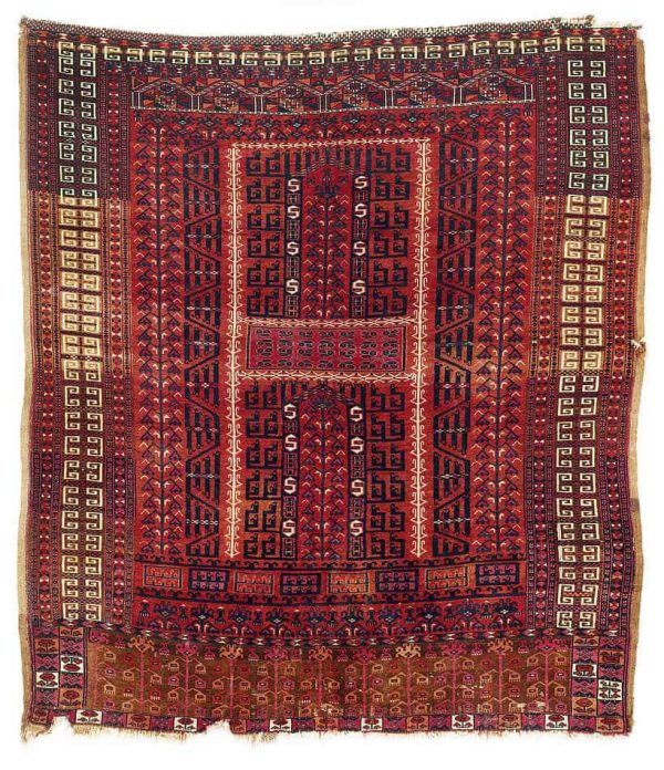12 600x696 - Interesting antique rug & textile auction at Rippon Boswell, Wiesbaden