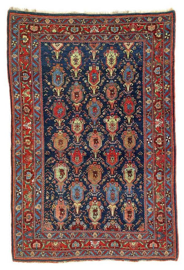 Lot 49. Bijar rug, North West Persia, Kurdistan. 160 x 107 cm. Late 19th century. Estimate 6,800.00 €