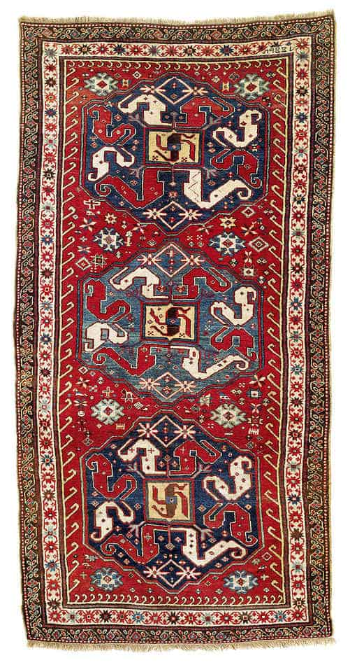 78 - Interesting antique rug & textile auction at Rippon Boswell, Wiesbaden