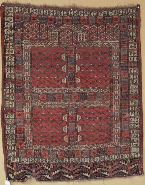 Yumut Ensi, Central Asia, early 19th century, 1.48m x 1.21m. Exhibitor Aaron Nejad
