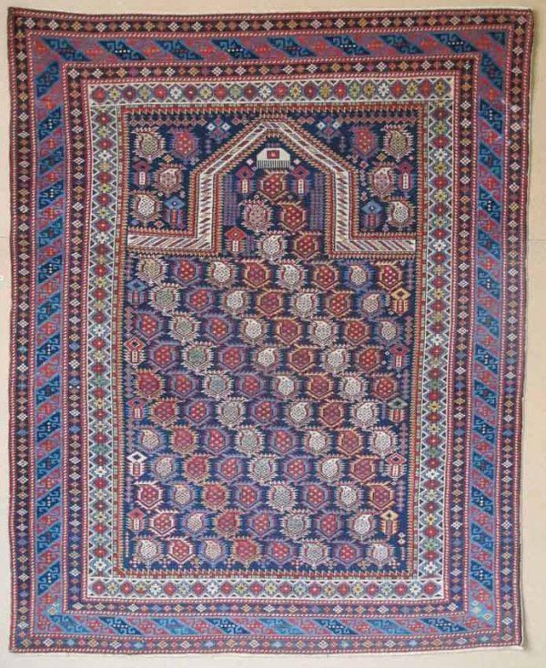 Marasali Prayer Rug, Caucasus, circa 1870, 1.42m x 1.15m. Exhibitor Aaron Nejad