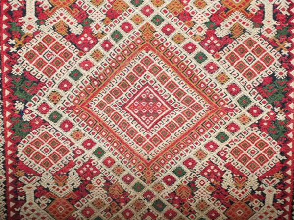 20140911 DSCF6665 600x450 - Antique Peasant Rugs from Sardinia and Abruzzo at Sartirana Textile Show