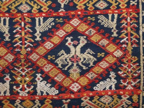 20140911 DSCF6667 600x450 - Antique Peasant Rugs from Sardinia and Abruzzo at Sartirana Textile Show