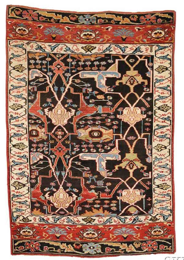 "Lot 214, a Bidjar ""Wagireh,"" Northwest Persia, 20th century, 7 ft. 2 in. x 4 ft. 10 in. Estimate $4,000-5,000"
