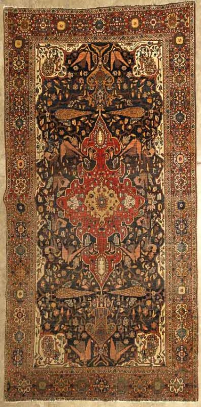Lot 3094, A FEREGHAN SAROUK RUG, size approximately 4ft. 3in. x 6ft. 8in. Estimate US$ 2,000 - 3,000