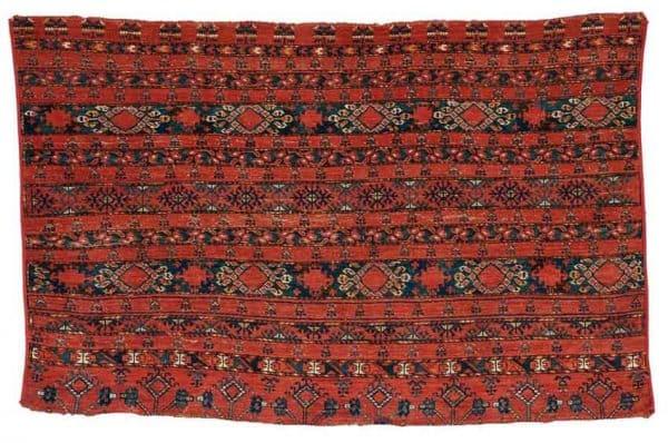 Lot 47, an Ersari Chuval, West Turkestan, third quarter 19th century, 3 ft. 4 in. x 5 ft. Estimate $800-1,200