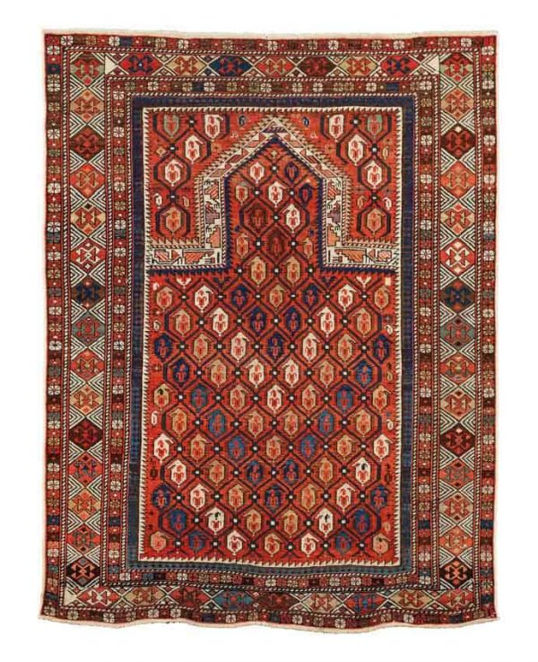 Lot 714, a Shirvan Marasali late 19th century. Size 142x109 cm. Estimate 1,800-2,200 EUR