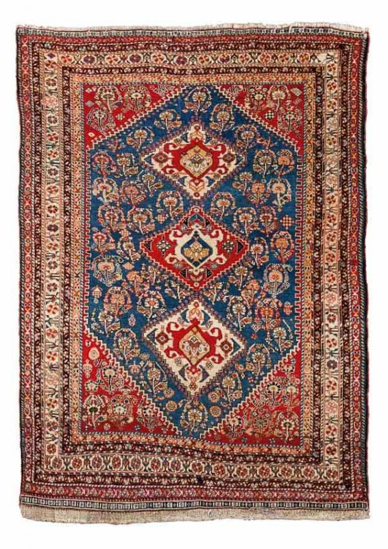 Lot 735, a Qashqai Kaskuli late 19th century. Size 184x130 cm. Estimate 2,800-3,200 EUR