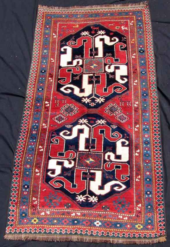 "Lot 738. Chondoresk, ""Cloud Band Kazak"", Karabagh Caucasus, antique circa 1870.224 cm x 111 cm."