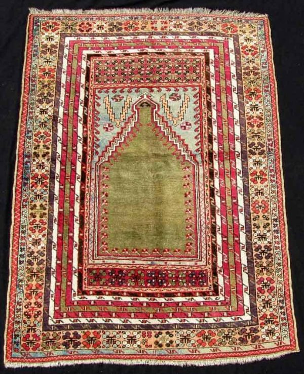 Lot 783. Kirshehir prayer rug. Anatolia, Turkey, antique, around 1800.179 cm x 127 cm.