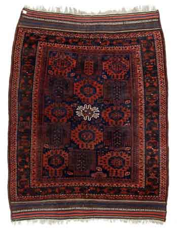 Antique Timuri Baluch Main carpet, East Persia. 200 x 265 cm. Est. 1700-2000.- Euro.
