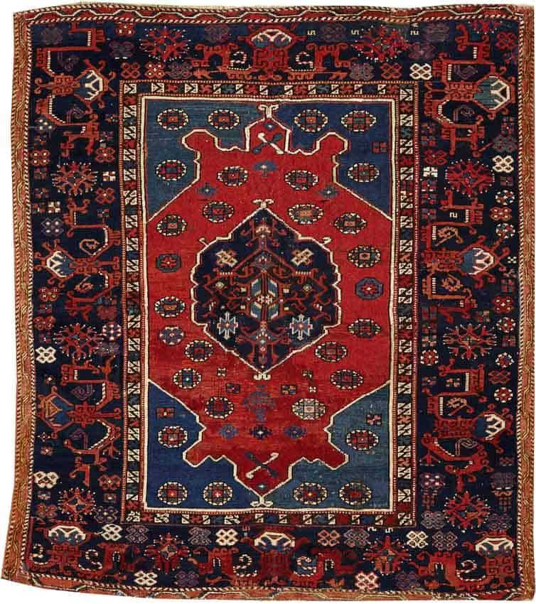 Lot 4018A, A TURKISH RUG, Turkey size approximately 4ft. 9in. x 5ft. 6in. US$ 2,500 - 4,500