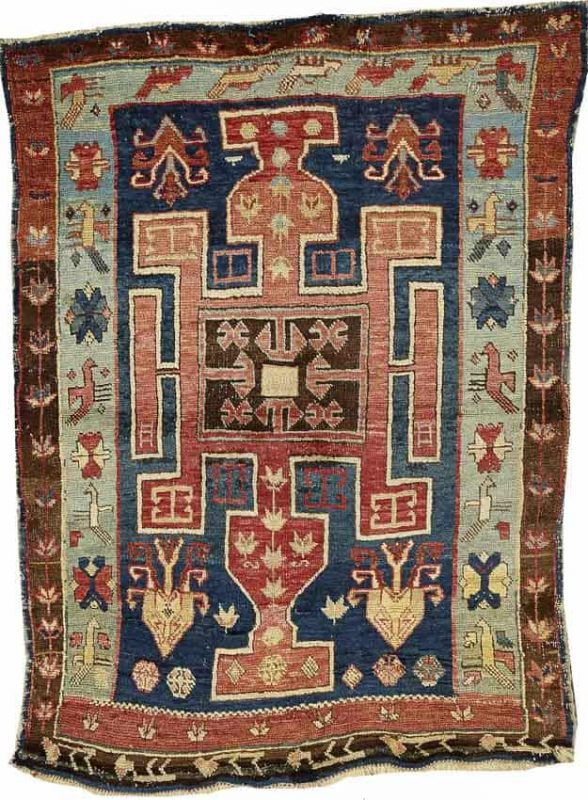 Lot 4177, AN AVAR RUG, Caucasus size approximately 3ft. 3in. x 4ft. 5in. US$ 1,500 - 2,000