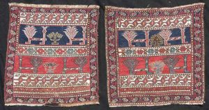 Lot 575, two Shahsavan Soumak bagfaces, Caucasus early 19th century
