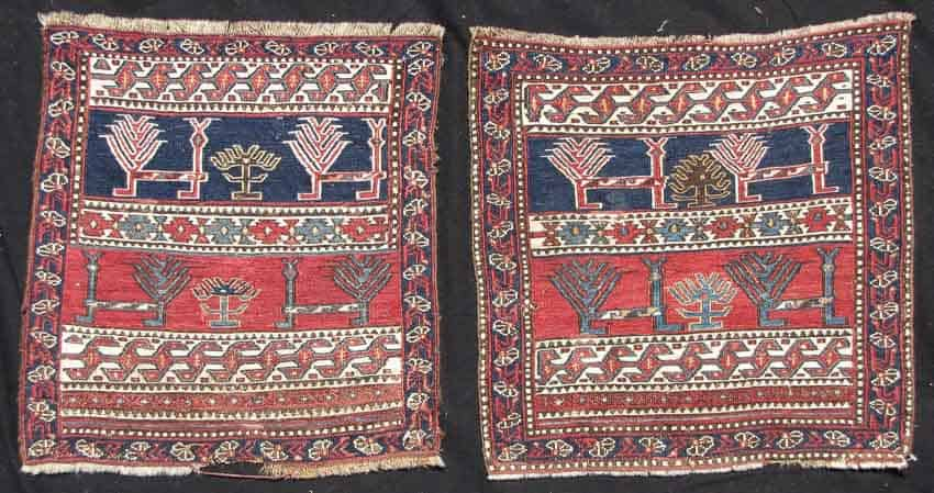 Lot 575, two Shahsavan Soumak bagfaces, Caucasus early 19th century