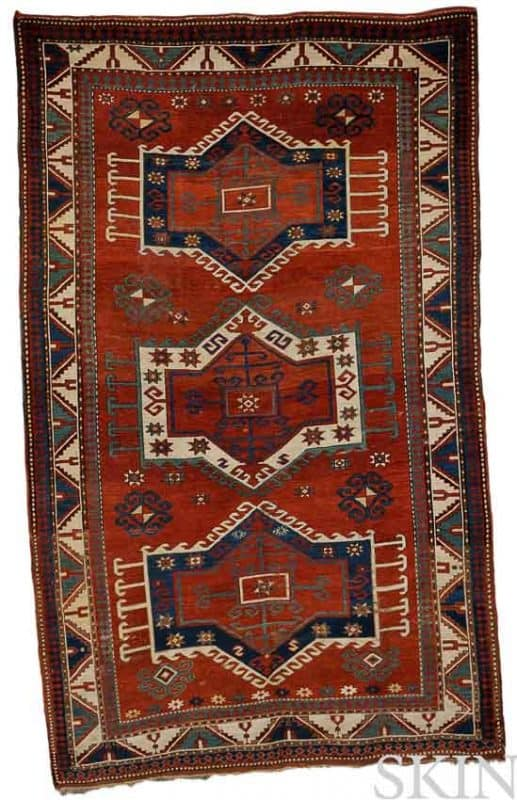 Lot 185. Fachralo Kazak Rug, Southwest Caucasus, late 19th century, 9 ft. 2 in. x 5 ft. 8 in. Estimate $3,000-4,000