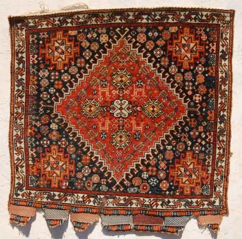 Qashqai bagface, Persia 19th century. Exhibitor Owen Parry