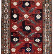 Lot 31: A Pinwheel Kazak, Caucasus, late 19th century, 260 x 196 cm, estimate 12.000 €