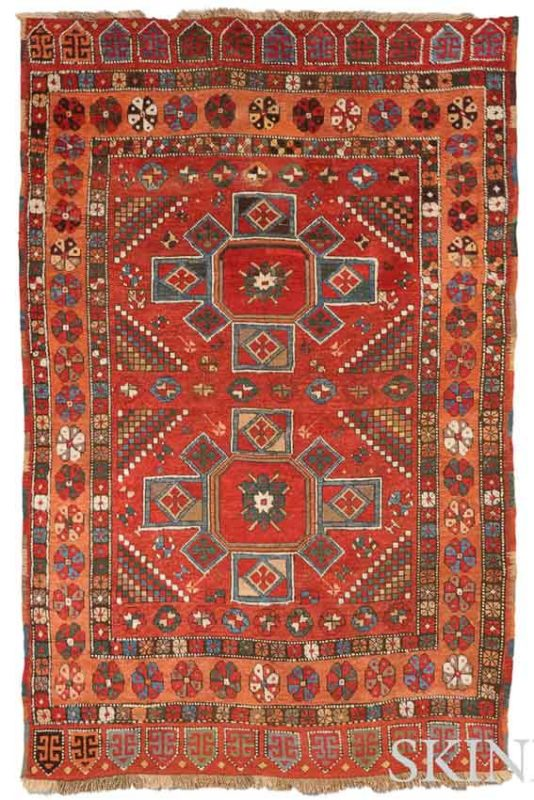 Lot 102. Konya Rug, Central Anatolia, 19th century, 6 ft. 8 in. x 4 ft. 2 in. Estimate $2,000-2,500