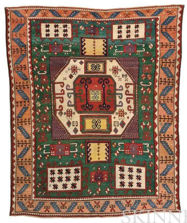 Lot 115. Karachov Kazak Rug, Southwest Caucasus, mid-19th century, 7 ft. 4 in. x 5 ft. 10 in. Estimate $10,000-12,000