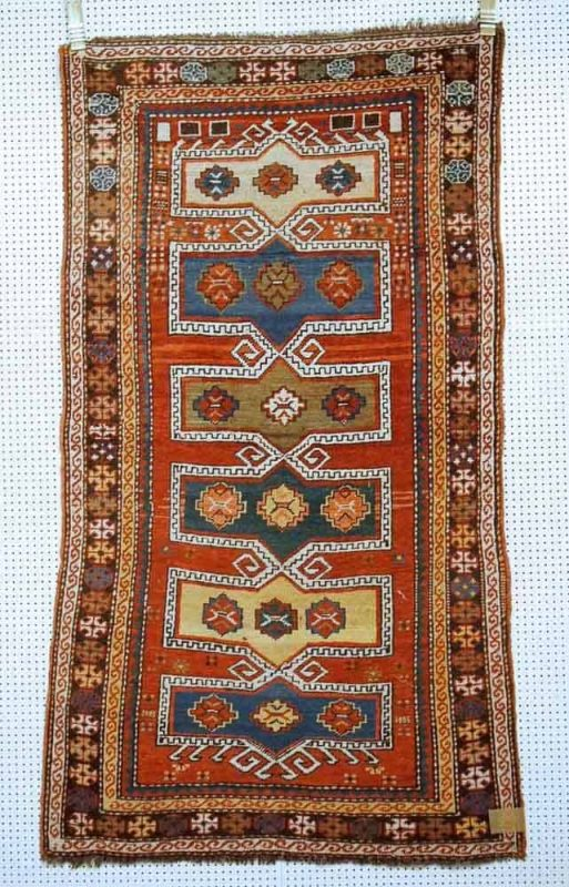 Lot 64, Kazak, circa 1920, 166 x 94cm. Limit 300 EUR