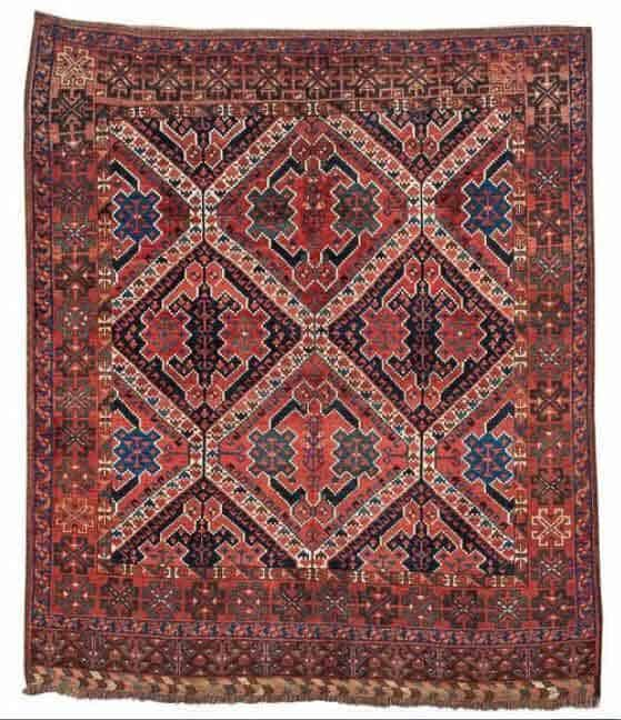 Lot 134. Ersari ensi, ca. 202 x 172 cm, mid 19th century. Estimate EUR 8,000 to 12,000