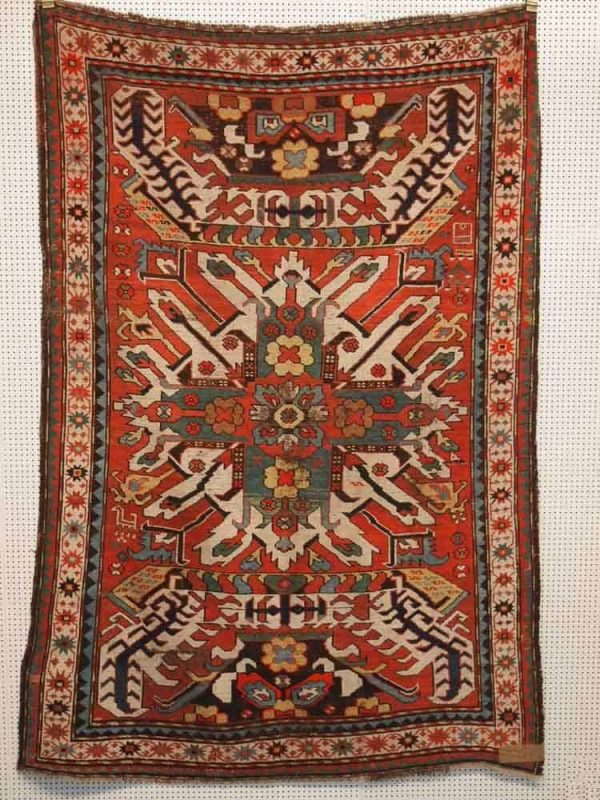 Lot 239, Eagle Kazak, late 19th century, 210 x 140cm. Limit 1500 EUR