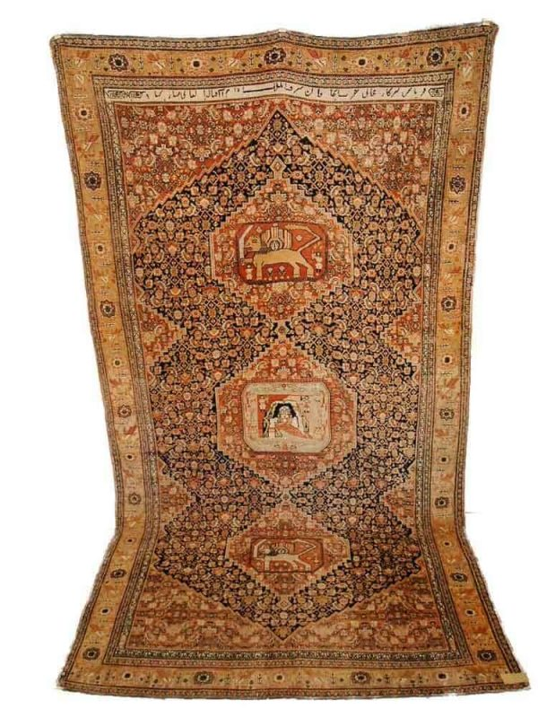 Lot 280, Senneh, signed, mid 19th century, 372 x 200cm. Limit 5000 EUR