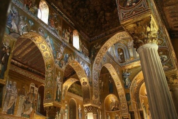 Palermo Cappella Palatina 600x401 - A Trip to Italy and Sartirana Textile Show 2015