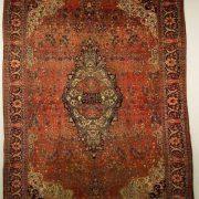Lot 25. SAROUK FEREGHAN CARPET, Persia, late 19th century; 12 ft. 8 in. x 8 ft. 9 in. ESTIMATE: $2,000 - $4,000