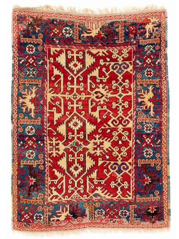 Lotto Carpet, Ushak region 137 x 99 cm. Late 17th century. Estimate EUR 4,700.00