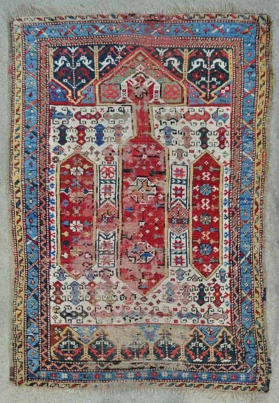 West Anatolian prayer rug. Exhibitor Mete Mutlu