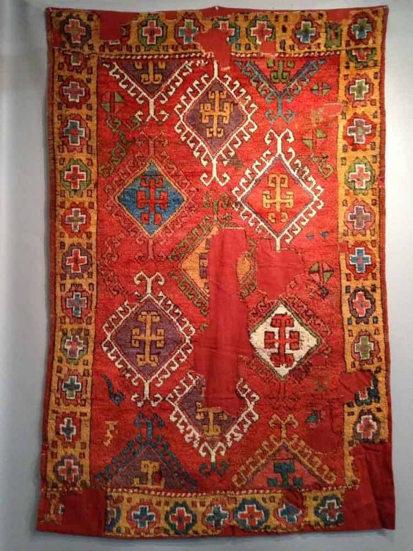 18th century central anatolian rug, mounted, 120x180cm. Exhibitor Mark Berkovich