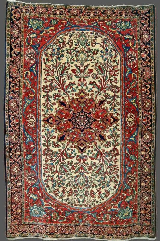 20150630 4.5 x 6.8 Fereghan Sarouk ivory field 532x800 - Persian rugs at the ICOC Carpet Fair