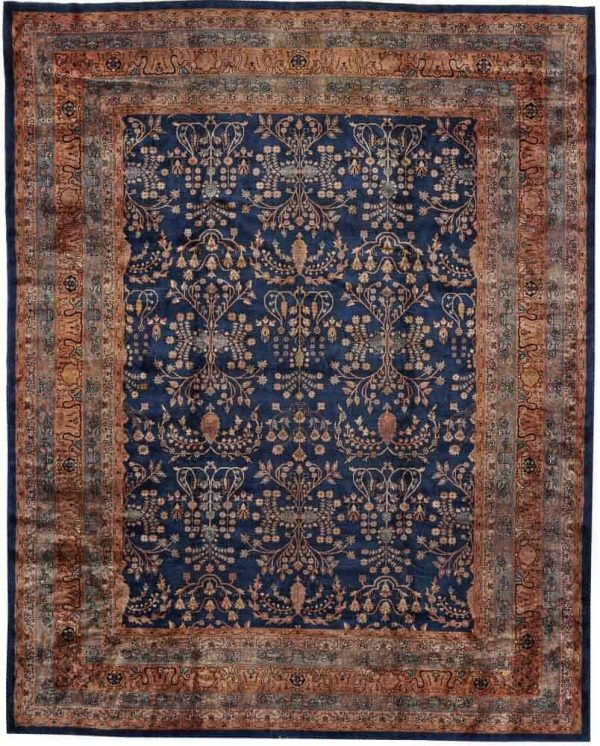 Lot 3109. AN AGRA CARPET. India size approximately 10ft. 10in. x 13ft. 7in. US$ 5,000 - 8,000