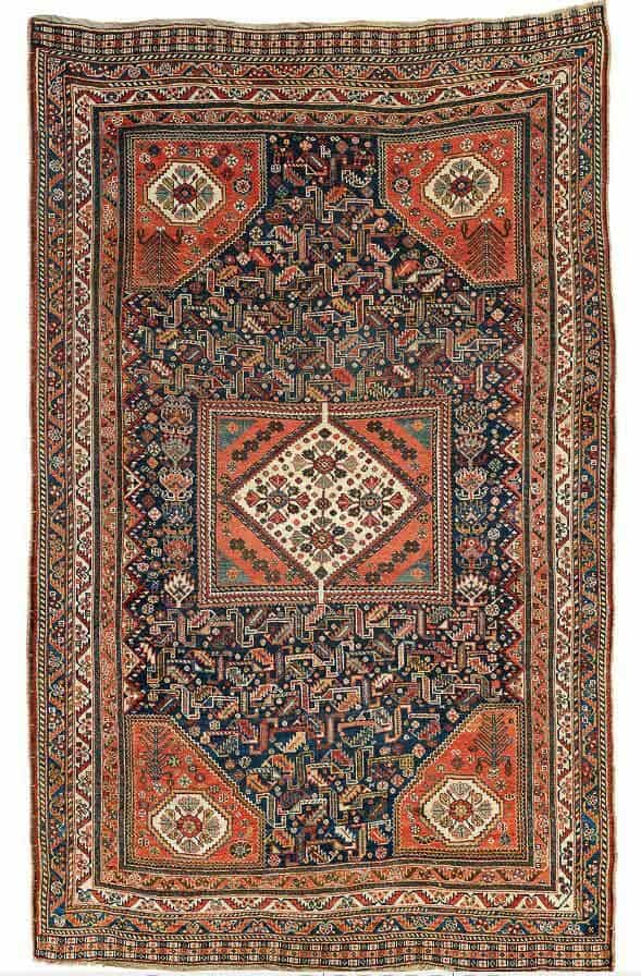 Lot 171, Qashqai, Fars. 239 x 146 cm. End of 19th century. Estimate EUR 2,900