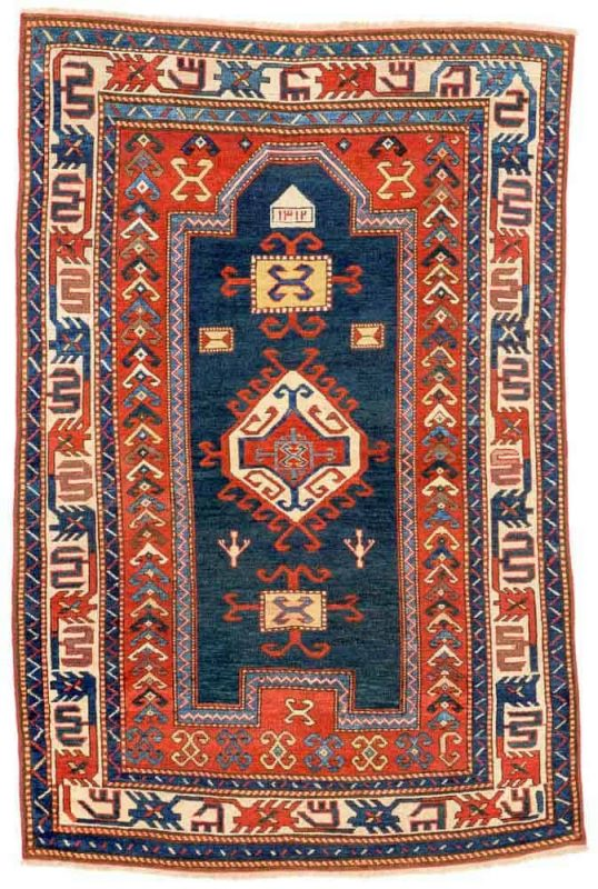 Lot 12. Fachralo Kazak, Caucasus end 19th century, 5ft. 6in. x 3ft. 6in. Estimate: € 1300 – 1800