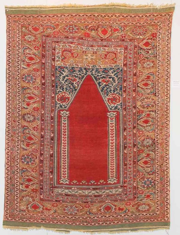Giordes prayer rug circa 1700 from the collection of Franco Dell'Orto