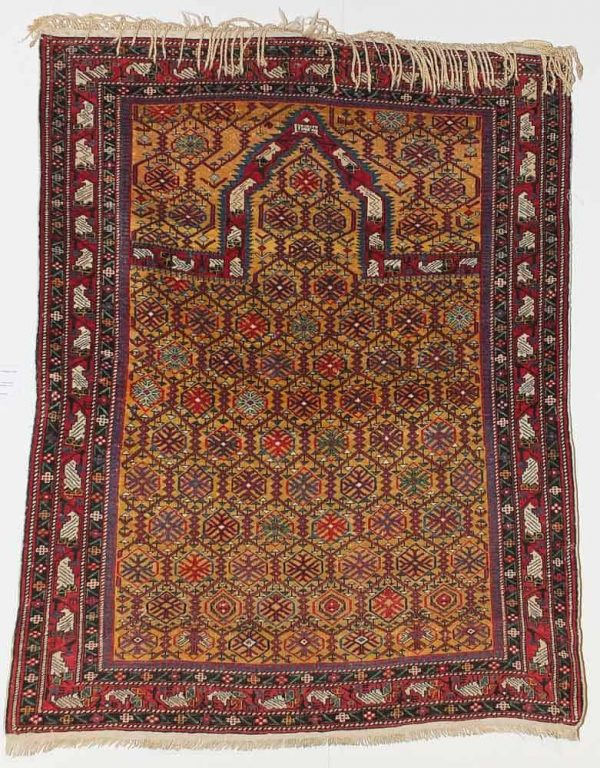 Marasali pryer rug dated 1858 from the collection of Moshe Tabibnia