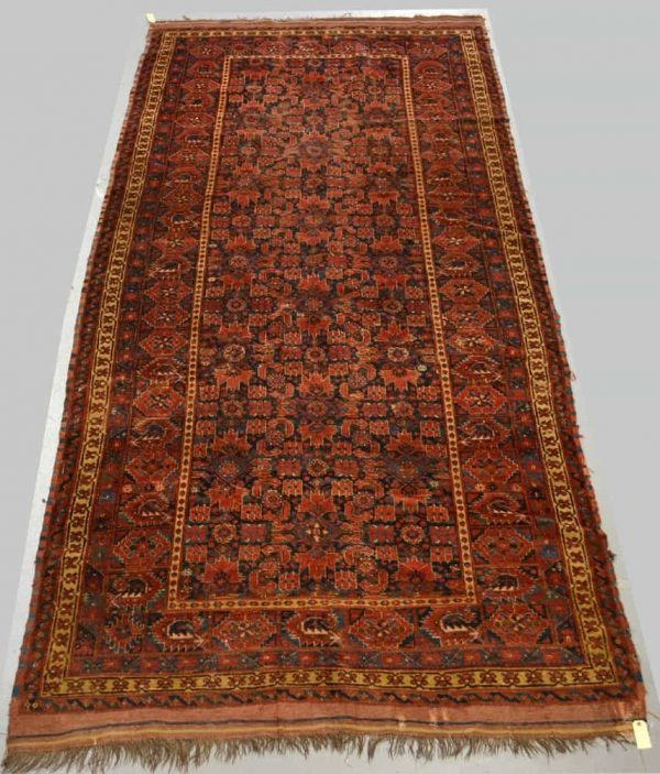Lot 333. Carpet by the Ersari Turkmen of Beshir, Turkmenistan, 3rd quarter of the 19th century, 12ft. 3in. x 5ft. 10in. 3.73m. x 1.78m. Estimate £2,000-2,500