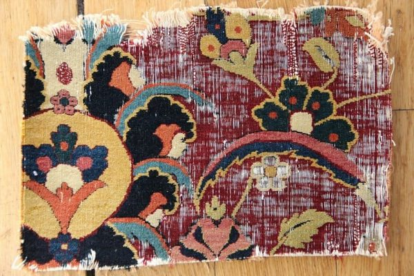 Kerman fragment 600x400 - The London Antique Rug & Textile Art Fair 2016