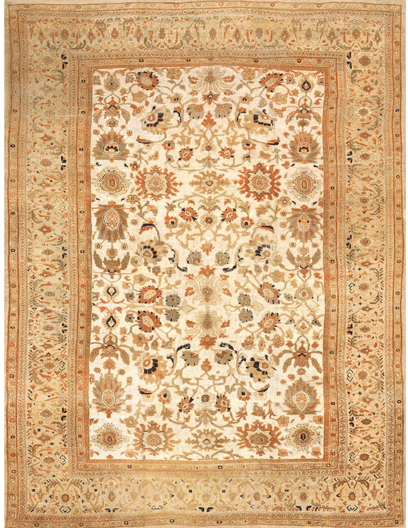 Lot 1150, A ZEIGLER SULTANABAD CARPET FROM THE ESTATE OF SIGMUND FREUD. Central Persia size approximately 12ft. 9in. x 16ft. 7in. US$ 80,000 - 120,000