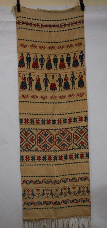 Swedish linen panel, early 19th century. 86in. x 28in., 218cm. x 71cm.